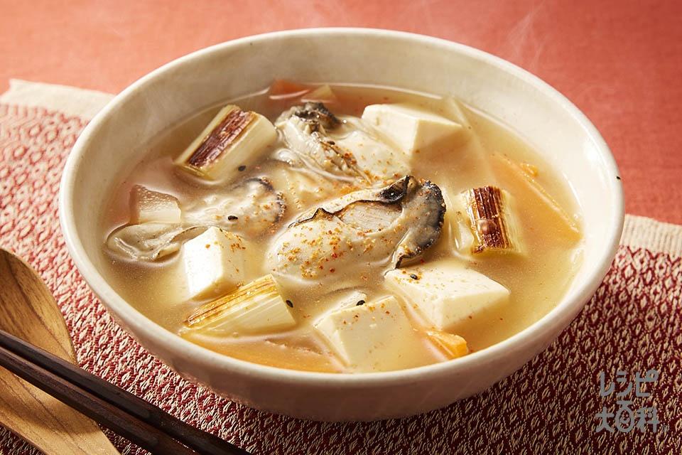 ごま油香るかき鍋風(かき(むき身)+大根を使ったレシピ)