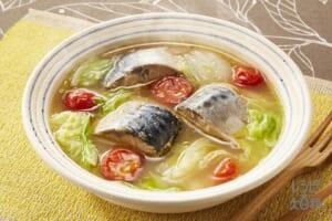 さば缶と白菜のミソスープ