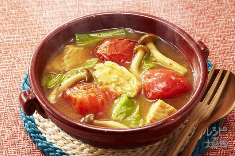 サラダチキンのスープカレー