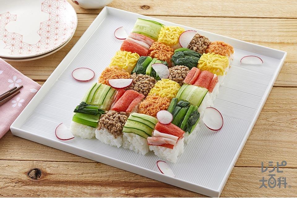 モザイク寿司(米+卵を使ったレシピ)