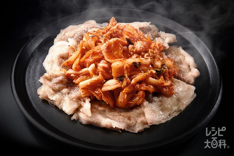 ガリ豚キムチ(豚バラ薄切り肉+キムチを使ったレシピ)