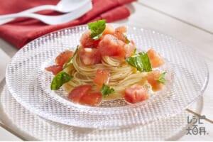 トマトのシンプル冷製パスタ