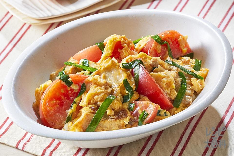 ごろっとトマトと玉子のスタミナ中華炒め(トマト+溶き卵を使ったレシピ)