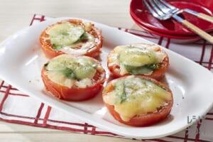 トマトのチーズ焼き バジル風味
