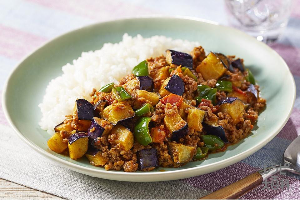コロコロ野菜のドライカレー(合いびき肉+なすを使ったレシピ)