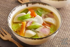 里芋とキャベツのスープ野菜