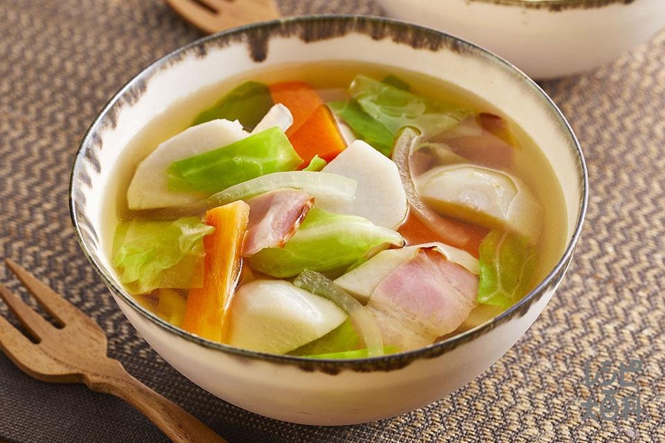 里芋とキャベツのスープ野菜(里いも+キャベツを使ったレシピ)
