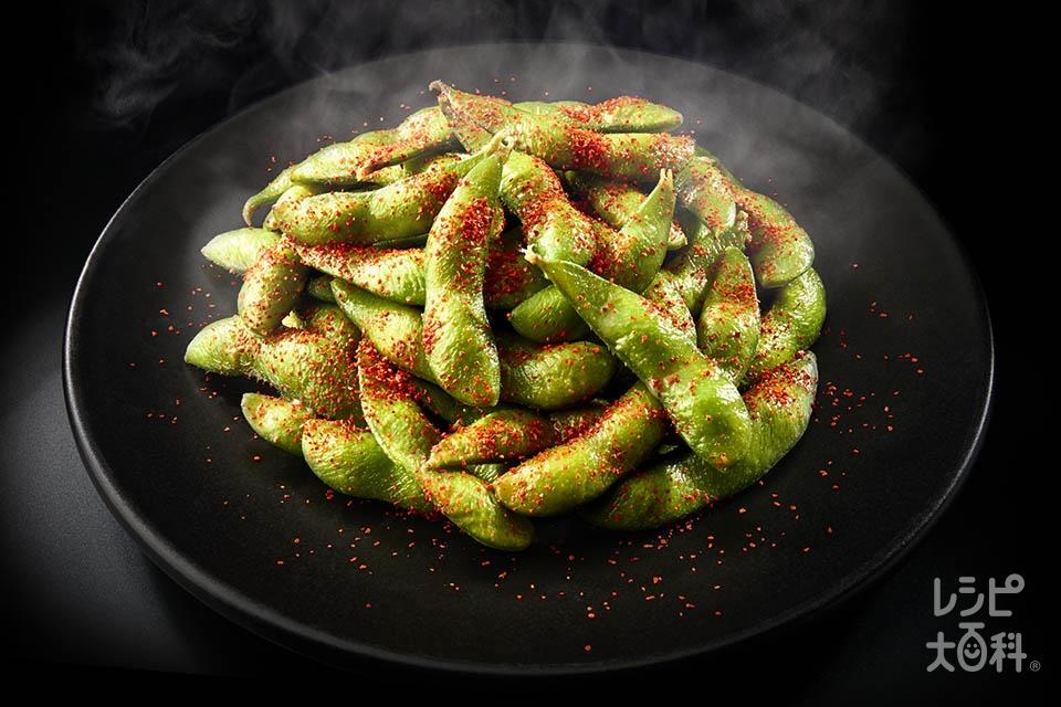 HOTガーリック枝豆(ゆで枝豆を使ったレシピ)