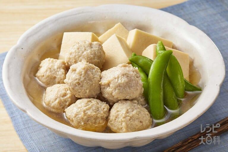 高野豆腐と鶏団子のサッと煮