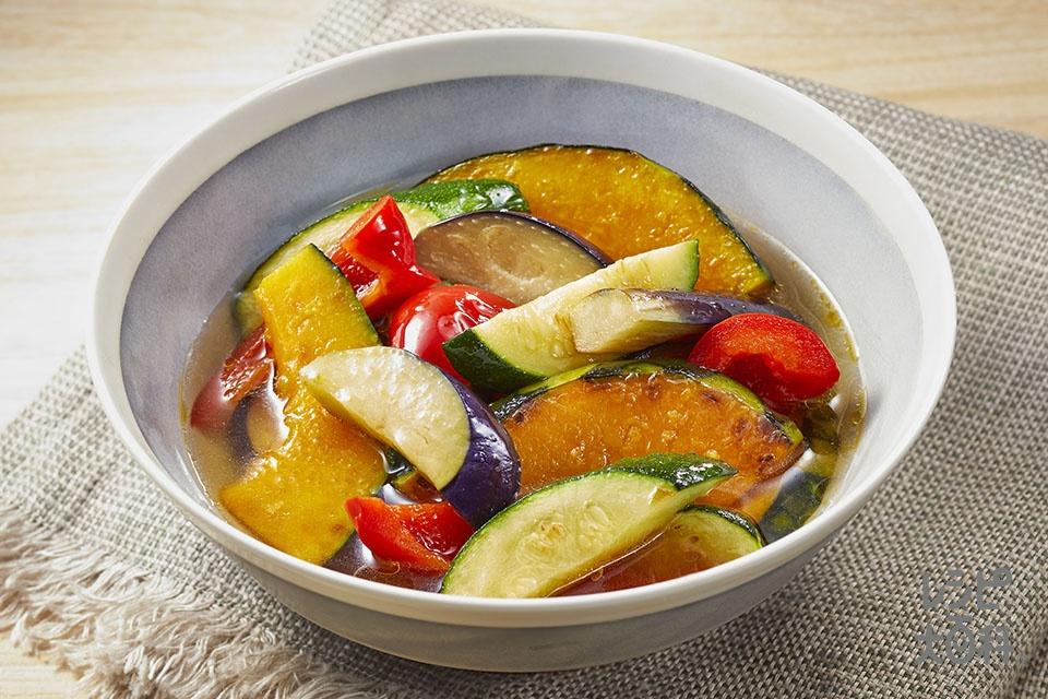夏野菜の焼きびたし(なす+ズッキーニを使ったレシピ)