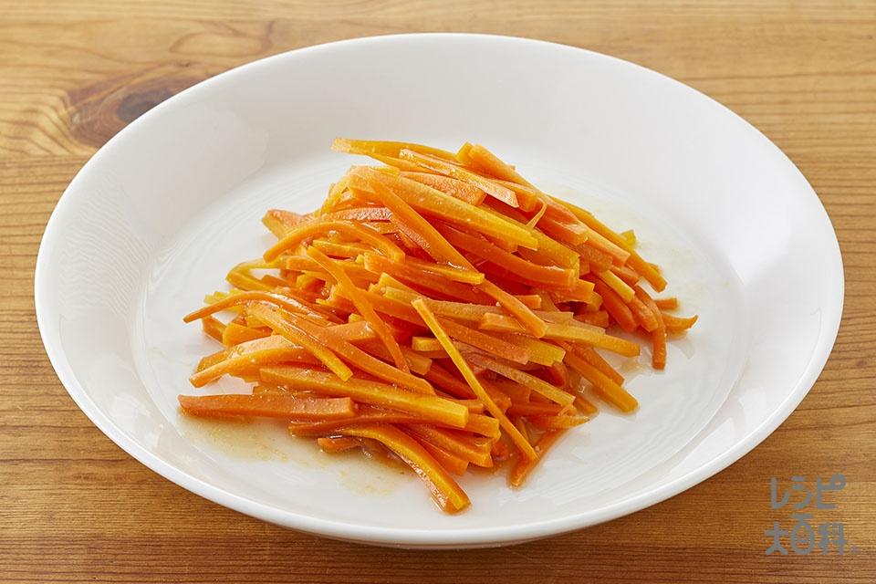 にんじんのレンジ温野菜♪黒酢味(にんじんを使ったレシピ)