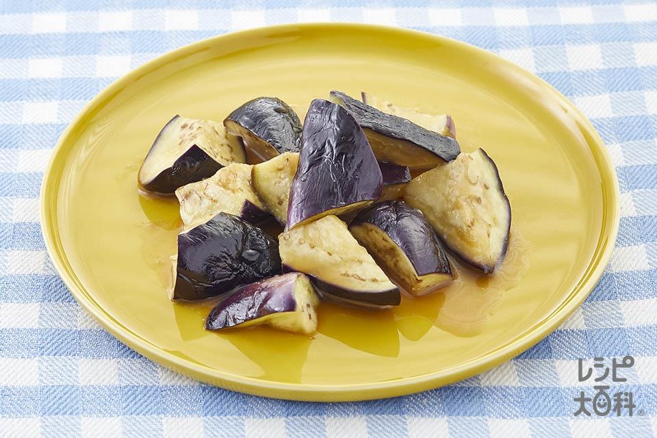 なすのレンジ温野菜♪黒酢味(なすを使ったレシピ)