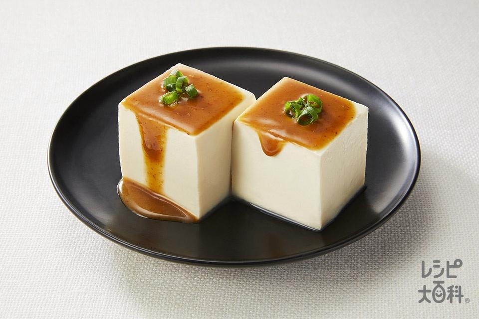 冷奴 棒棒鶏ソースがけ(絹ごし豆腐を使ったレシピ)