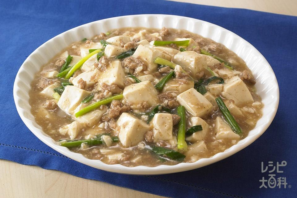 肉そぼろ豆腐(豚ひき肉+絹ごし豆腐を使ったレシピ)