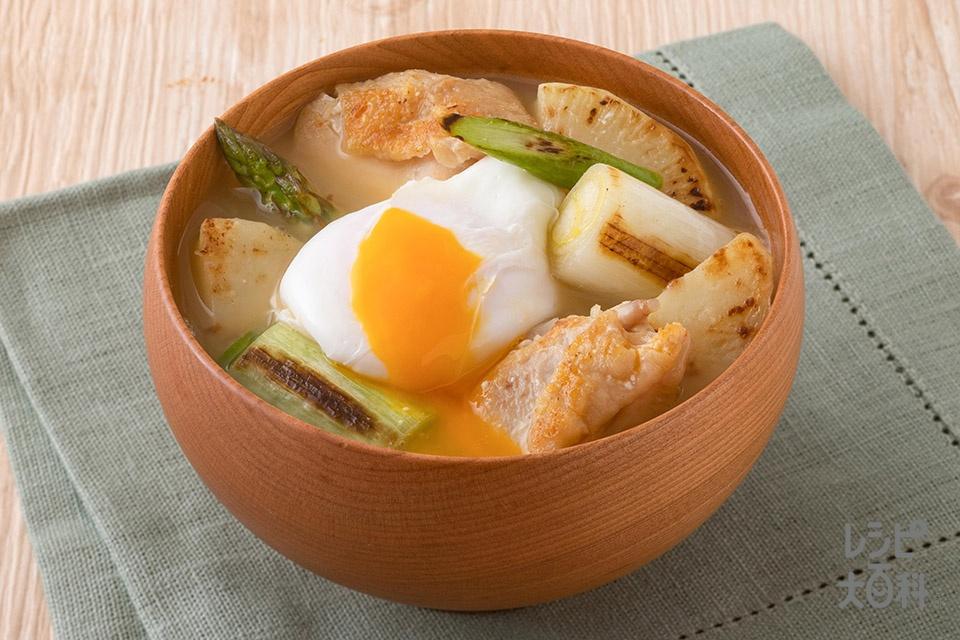 焼き鶏肉とねぎの絶品汁(鶏もも肉+じゃがいもを使ったレシピ)