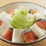 鮭と豆腐・キャベツのキムチレンジ蒸しの作り方_2_2