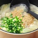 たっぷり野菜のネギごまスープの作り方_2_0