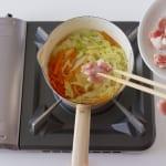 豚肉とせん切り野菜の簡単中華風スープ  の作り方_1_1