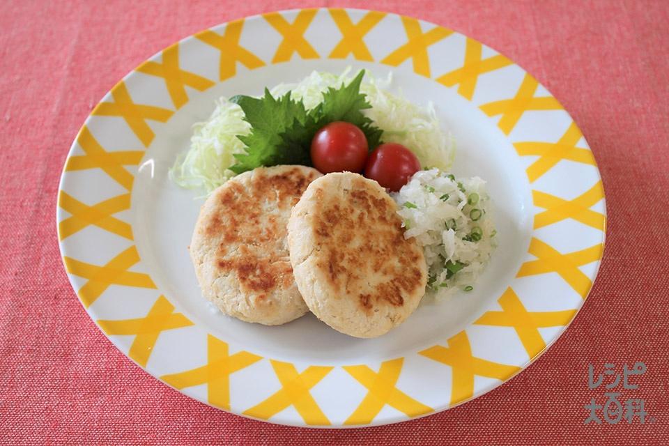 マヨネーズでしっとりおからバーグ(鶏ひき肉+おからを使ったレシピ)