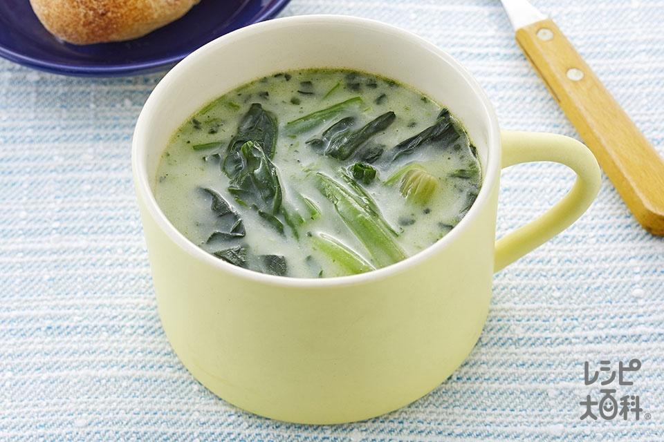 追いほうれん草のポタージュ(冷凍ほうれん草を使ったレシピ)