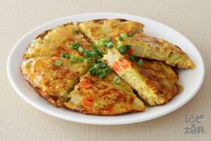 ひき肉と春野菜のあんかけスペインオムレツ