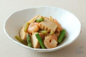 厚揚げと春野菜の含め煮