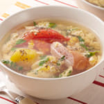 トマトと豆苗のスープ野菜の作り方_0_0