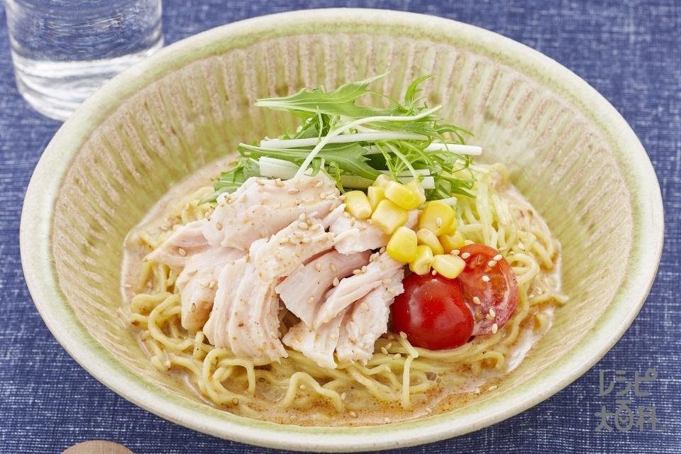冷製ごま豆乳めん(中華生めん+調整豆乳を使ったレシピ)