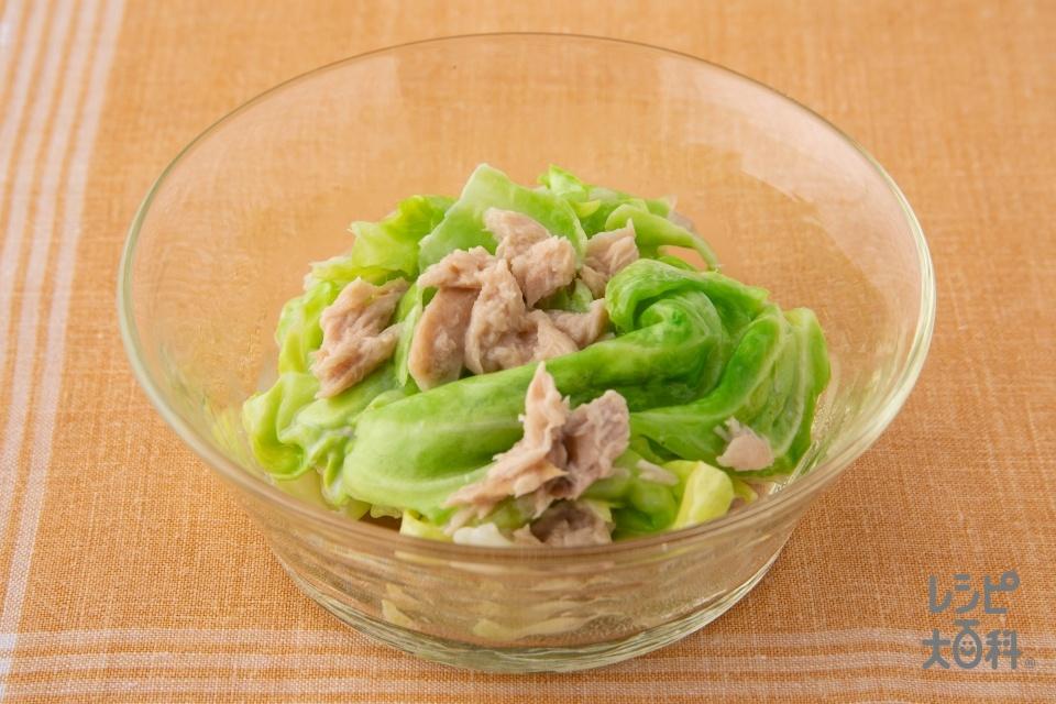 レンジで簡単!ツナキャベツ(キャベツ+ツナ油漬缶を使ったレシピ)