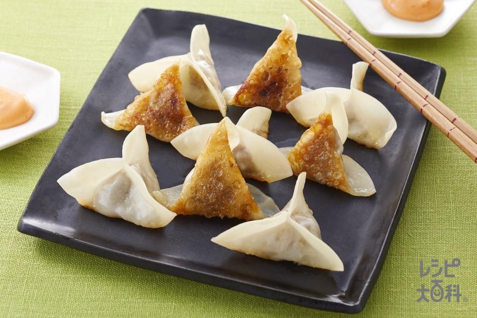 三方餃子(豚ひき肉+キャベツを使ったレシピ)