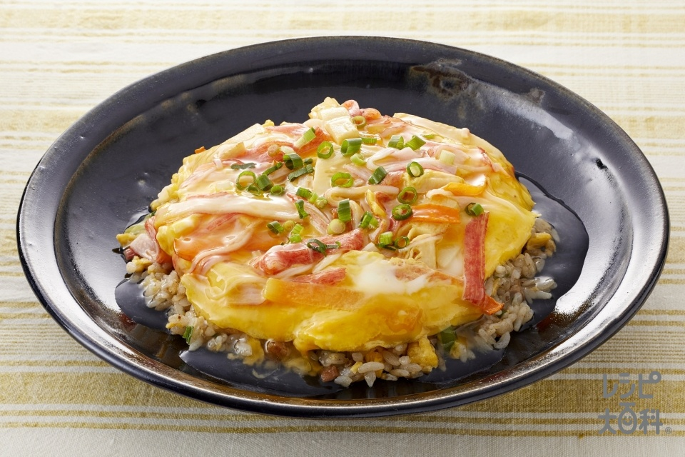 簡単!とろ玉天津飯(卵+かに風味かまぼこを使ったレシピ)