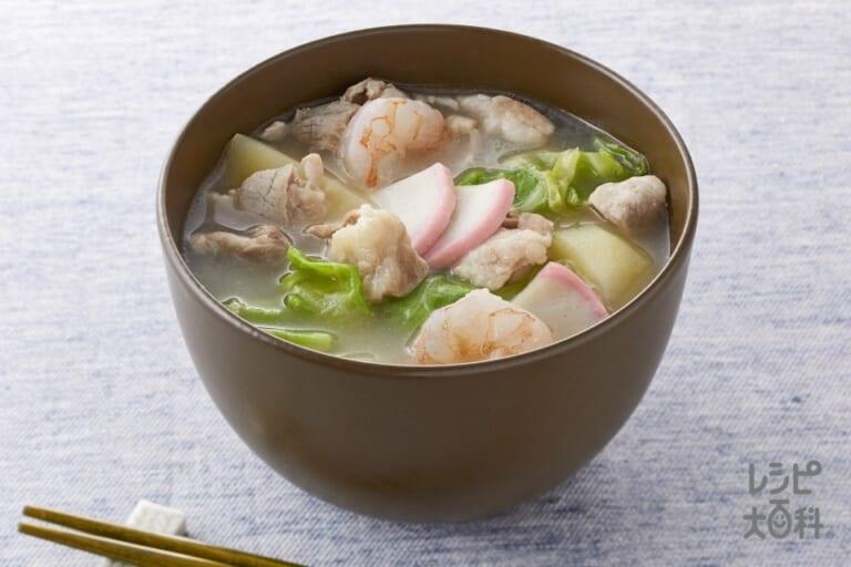 ちゃんぽん風濃厚白湯スープ