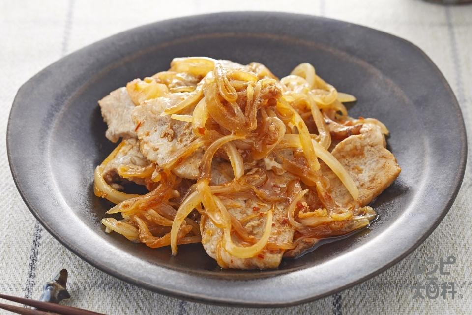 四川風豚の生姜焼き(豚ロース薄切り肉+しょうがのすりおろしを使ったレシピ)