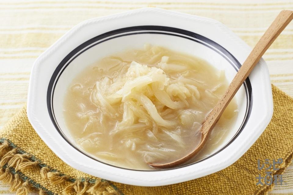 バター香るとろとろたまねぎのスープ野菜(玉ねぎを使ったレシピ)