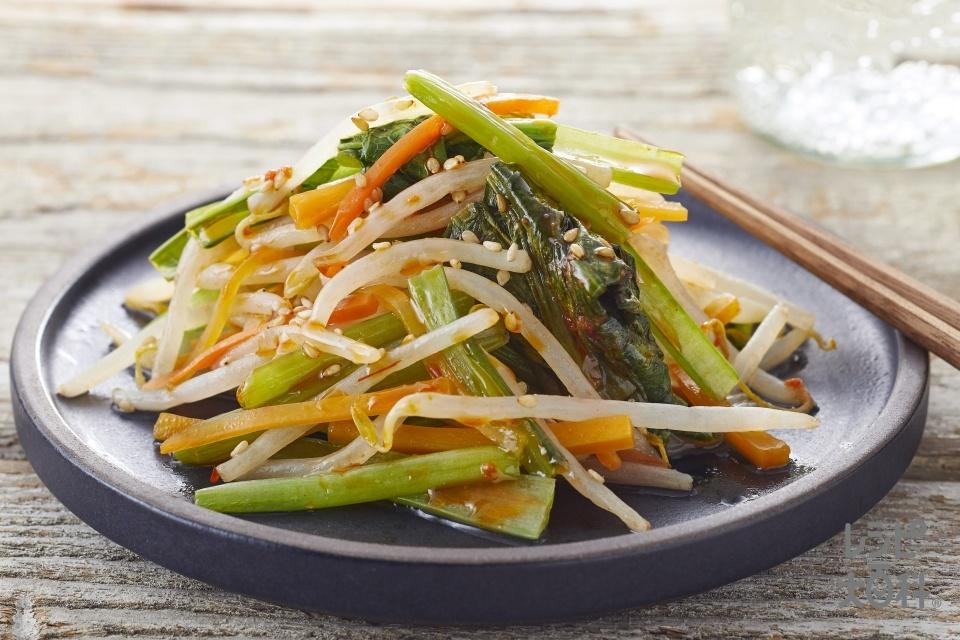 うま辛 彩りナムル(小松菜+にんじんを使ったレシピ)