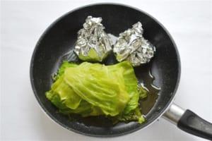 キャベツとベーコンの重ね煮とコーンバターの作り方_3_0