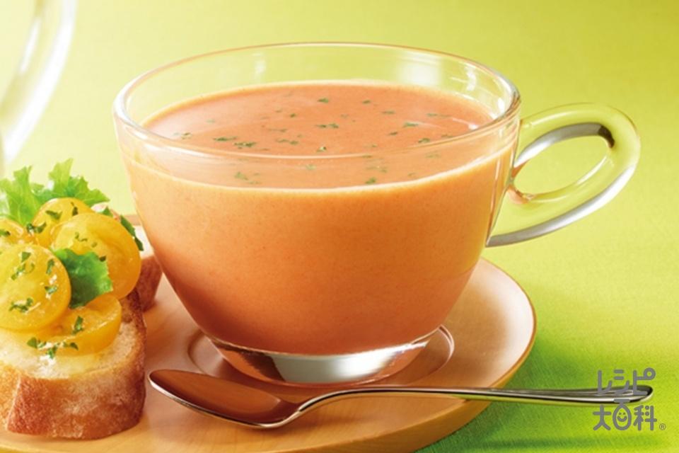 「クノール カップスープ」冷たい牛乳でつくる トマトのポタージュ(牛乳を使ったレシピ)
