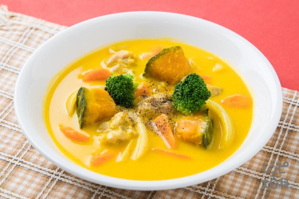 ルウ要らず!かぼちゃの濃厚シチュー(鶏もも肉+かぼちゃを使ったレシピ)