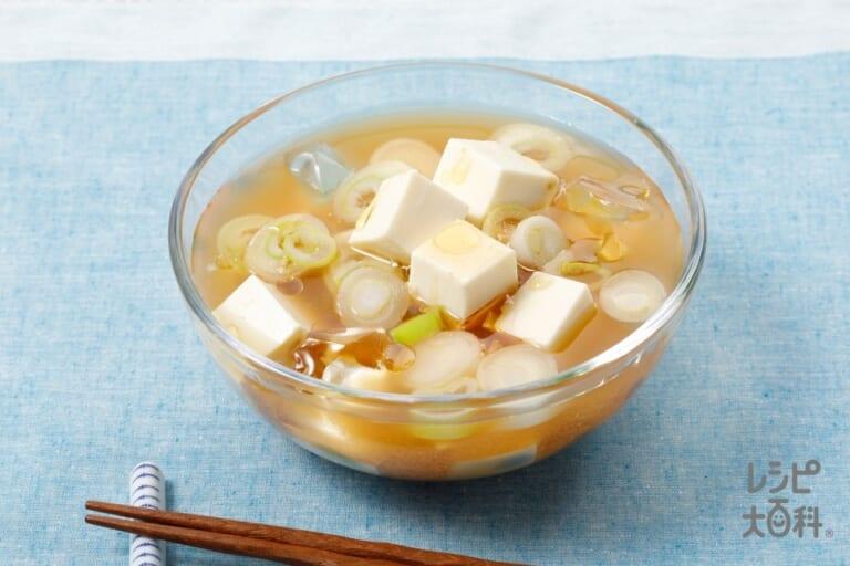 豆腐とねぎの冷やしみそ汁