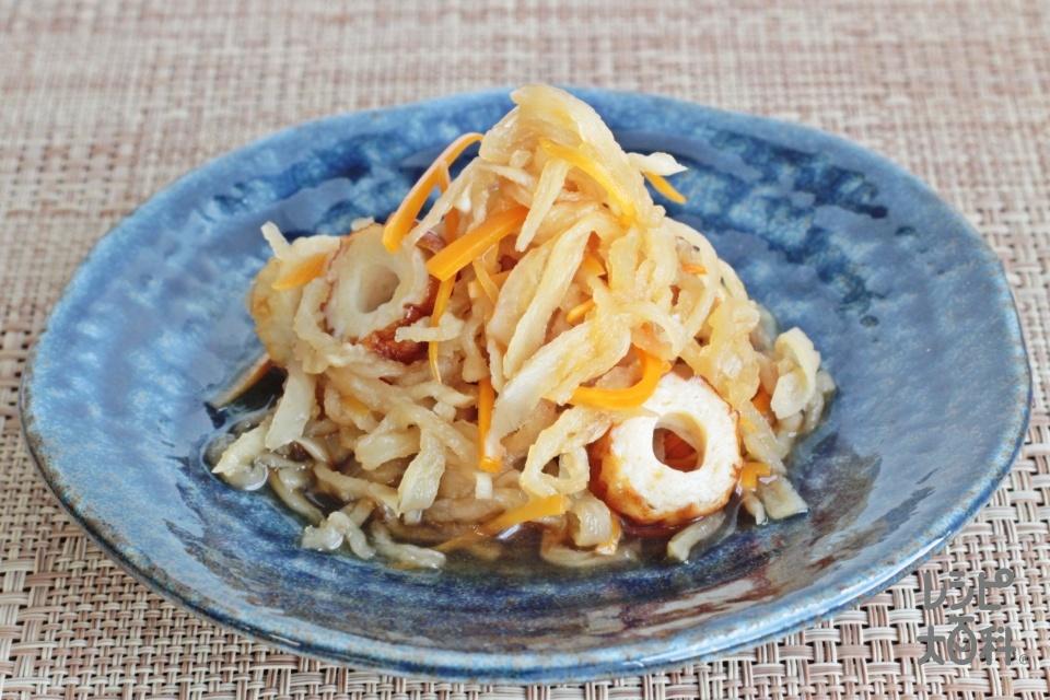 レンジで簡単!切り干し大根煮(切り干し大根+にんじんを使ったレシピ)