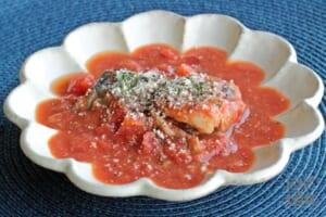 レンジで簡単!サバ缶のトマト煮