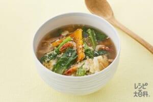 小松菜のふわ玉スープ