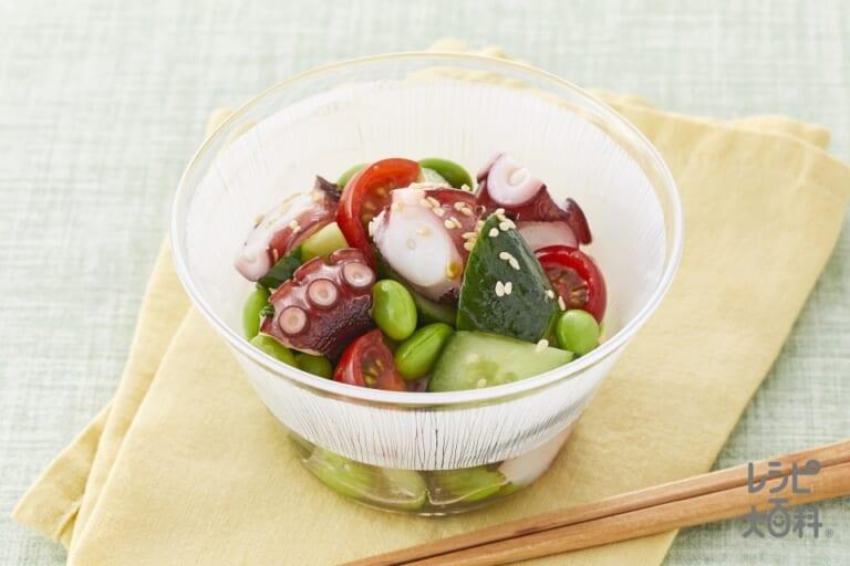 夏野菜とたこのさっぱり中華和え