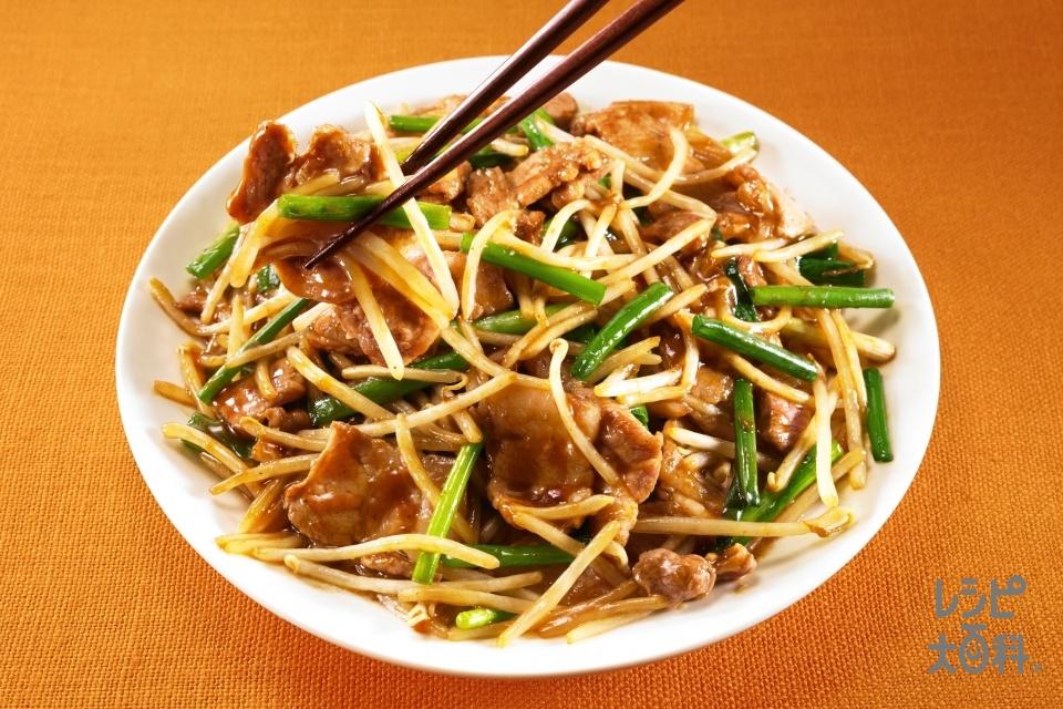 豚肉ともやしの甜醤炒め(豚バラ薄切り肉+もやしを使ったレシピ)