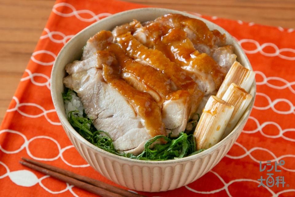 鶏の照り焼き丼(鶏もも肉+長ねぎを使ったレシピ)