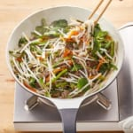 牛肉と空心菜のチャプチェ風の作り方_0_0