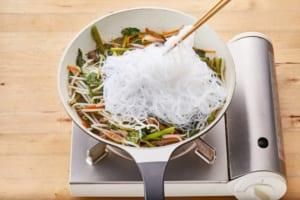 牛肉と空心菜のチャプチェ風の作り方_2_0