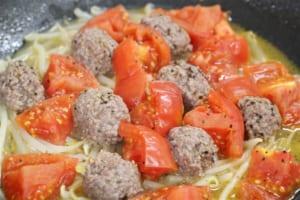 ひき肉とトマトのスパイシー蒸しの作り方_1_2