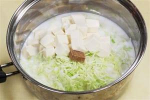 キャベツと豆腐のミルクスープの作り方_1_1