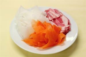 豚バラ大根の卵とじ丼の作り方_0_1